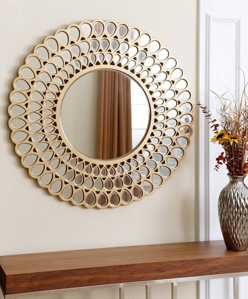 10 Dazzling Round Wall Mirrors To Decorate Your Walls inside Massive Wall Mirrors (Image 1 of 25)