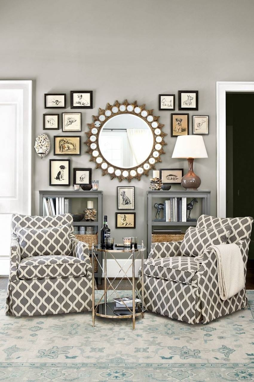 10 Dazzling Round Wall Mirrors To Decorate Your Walls within Circular Wall Mirrors (Image 3 of 25)