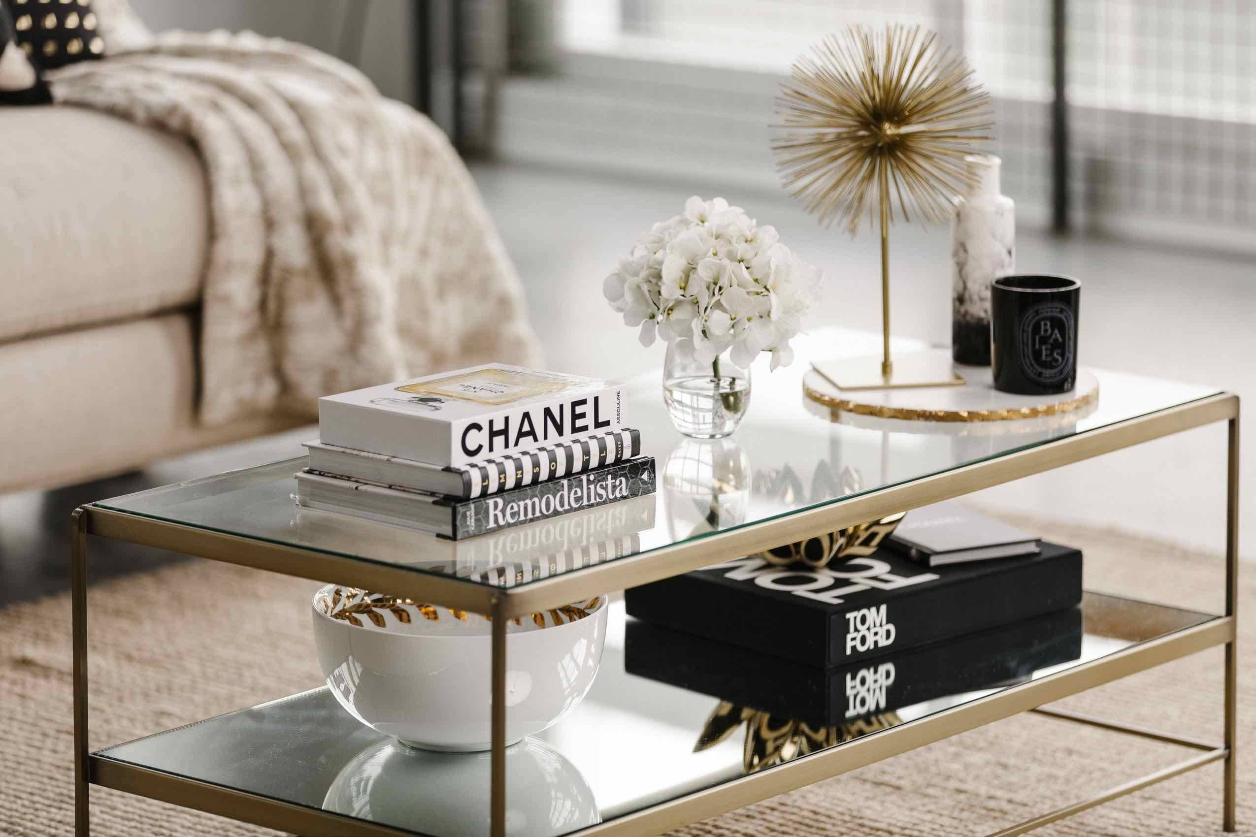 10 Glam Coffee Tables We Love | The Havenly Blog inside Coffee Table Footrests (Image 1 of 30)