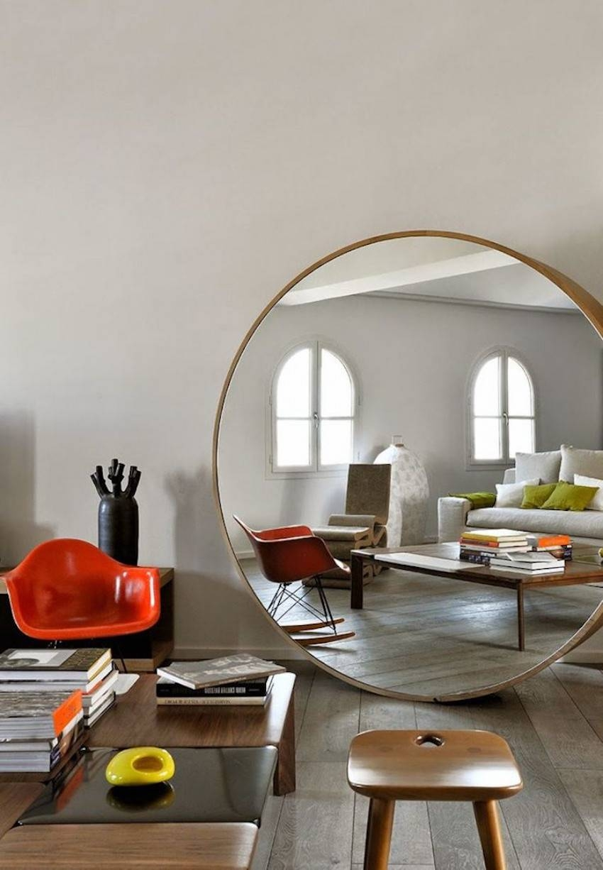 10 Impressive Oversized Mirrors To Make Any Room Feel Bigger for Large Circle Mirrors (Image 1 of 25)