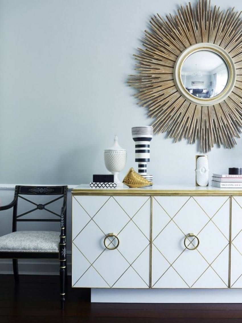10 Perfect Ways To Combine Sideboards With Wall Mirrors throughout Sideboards With Mirror (Image 3 of 30)
