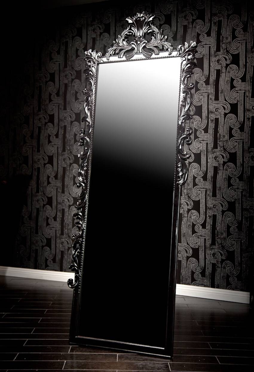 10 Stunning Black Wall Mirror Ideas To Decorate Your Home for Black Baroque Mirrors (Image 1 of 25)