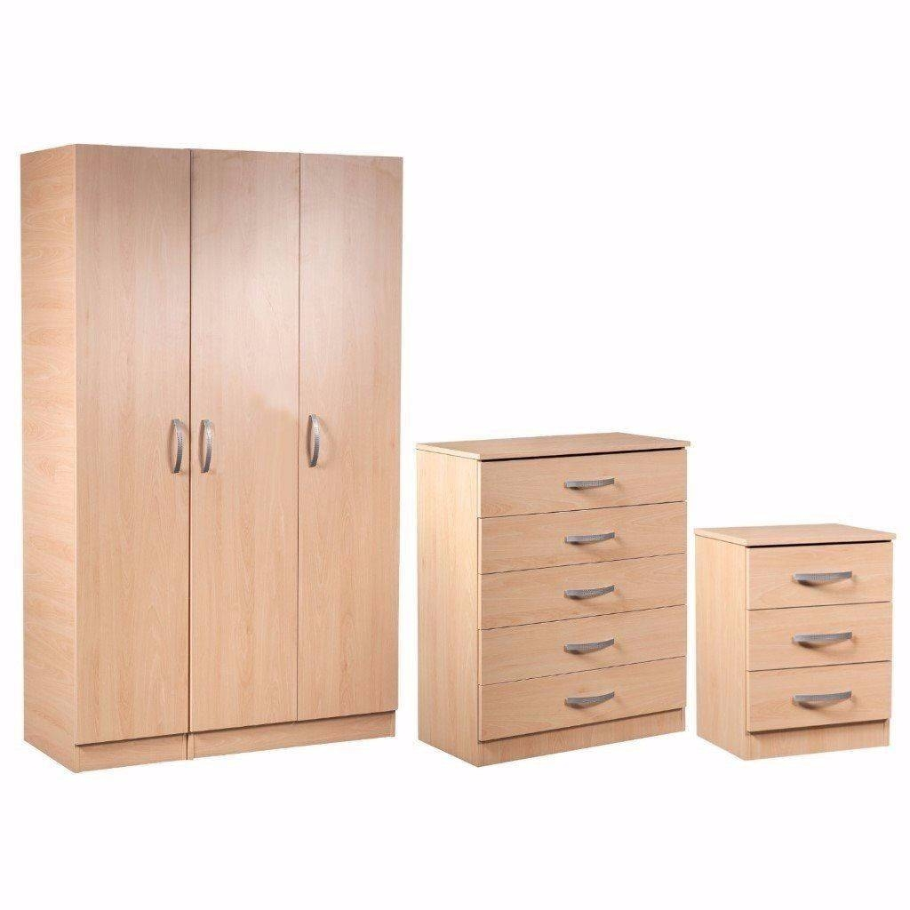 100% Guaranteed Price!*brand New Wardrobe Set With Bedside Table With Regard To Wardrobes And Chest Of Drawers Combined (View 9 of 15)