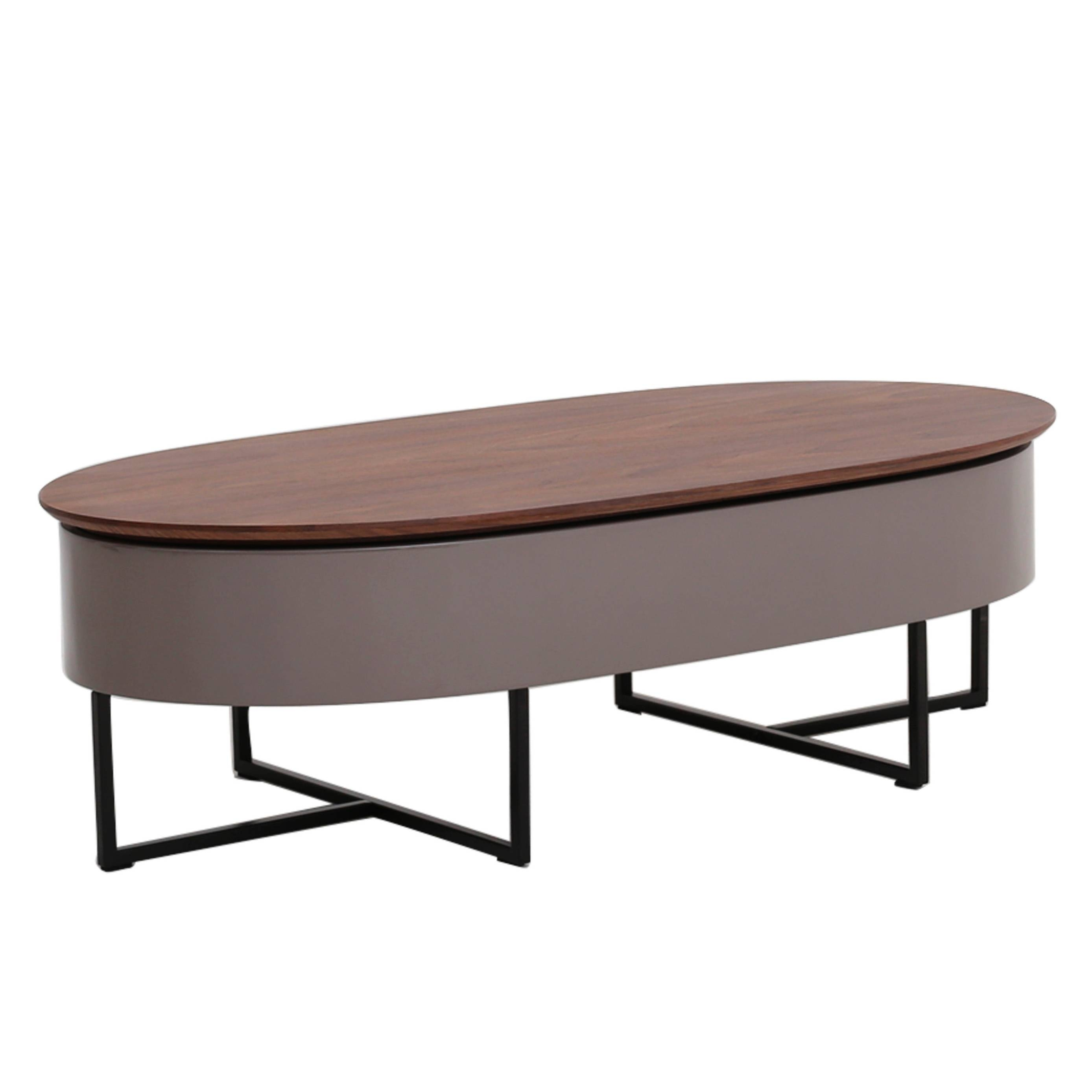 1030001 - Npd - New Pacific Direct Furniture | Stylish throughout Oval Walnut Coffee Tables (Image 1 of 30)