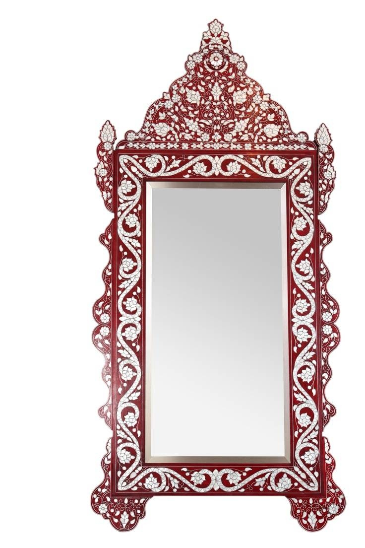 104 Best Mirrors Images On Pinterest | Mirror Mirror, Antique pertaining to Red Mirrors (Image 2 of 25)