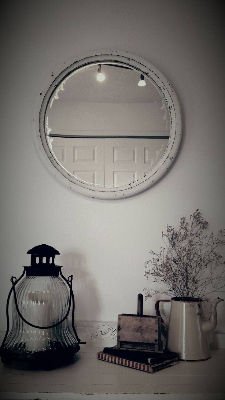 104 Best Shabby Chics & Treasures Images On Pinterest Intended For Shabby Chic Round Mirrors (View 1 of 25)
