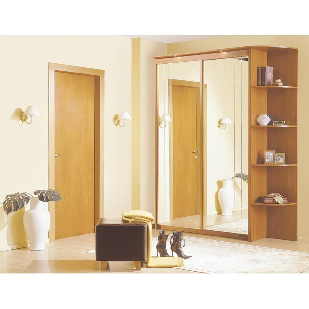$1,058.50 Baikal Mirror Sliding Doors Wide Wardrobe With Corner with Corner Mirror Wardrobes (Image 1 of 15)