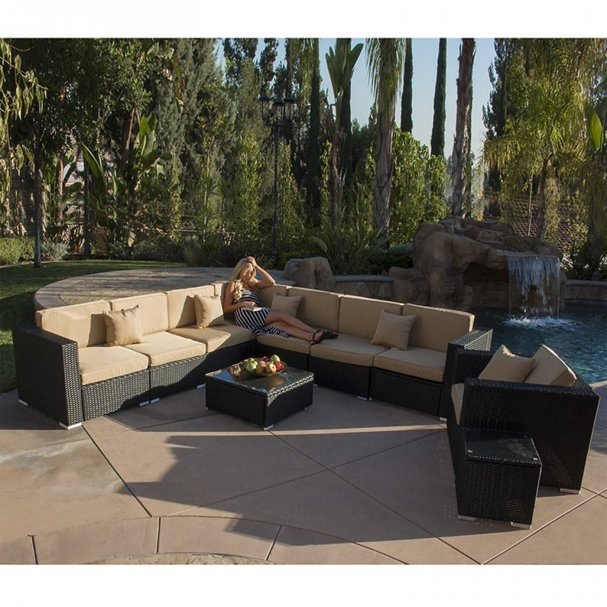 10Pc Outdoor Patio Aluminum Rattan Wicker Furniture Sectional Sofa intended for 10 Piece Sectional Sofa (Image 5 of 30)