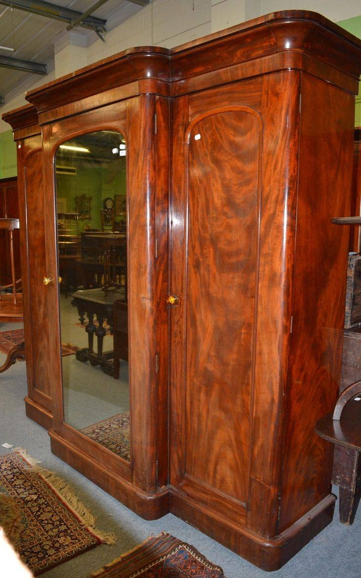 11 Best Wardrobe Images On Pinterest   China Cabinets, Bedroom intended for Victorian Mahogany Breakfront Wardrobe (Image 1 of 30)