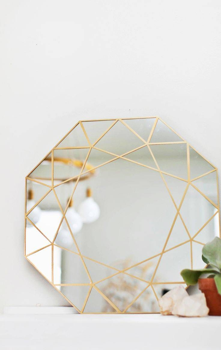 110 Best Mirrors Images On Pinterest | Bathroom Ideas, Bathroom in Modern Gold Mirrors (Image 3 of 25)