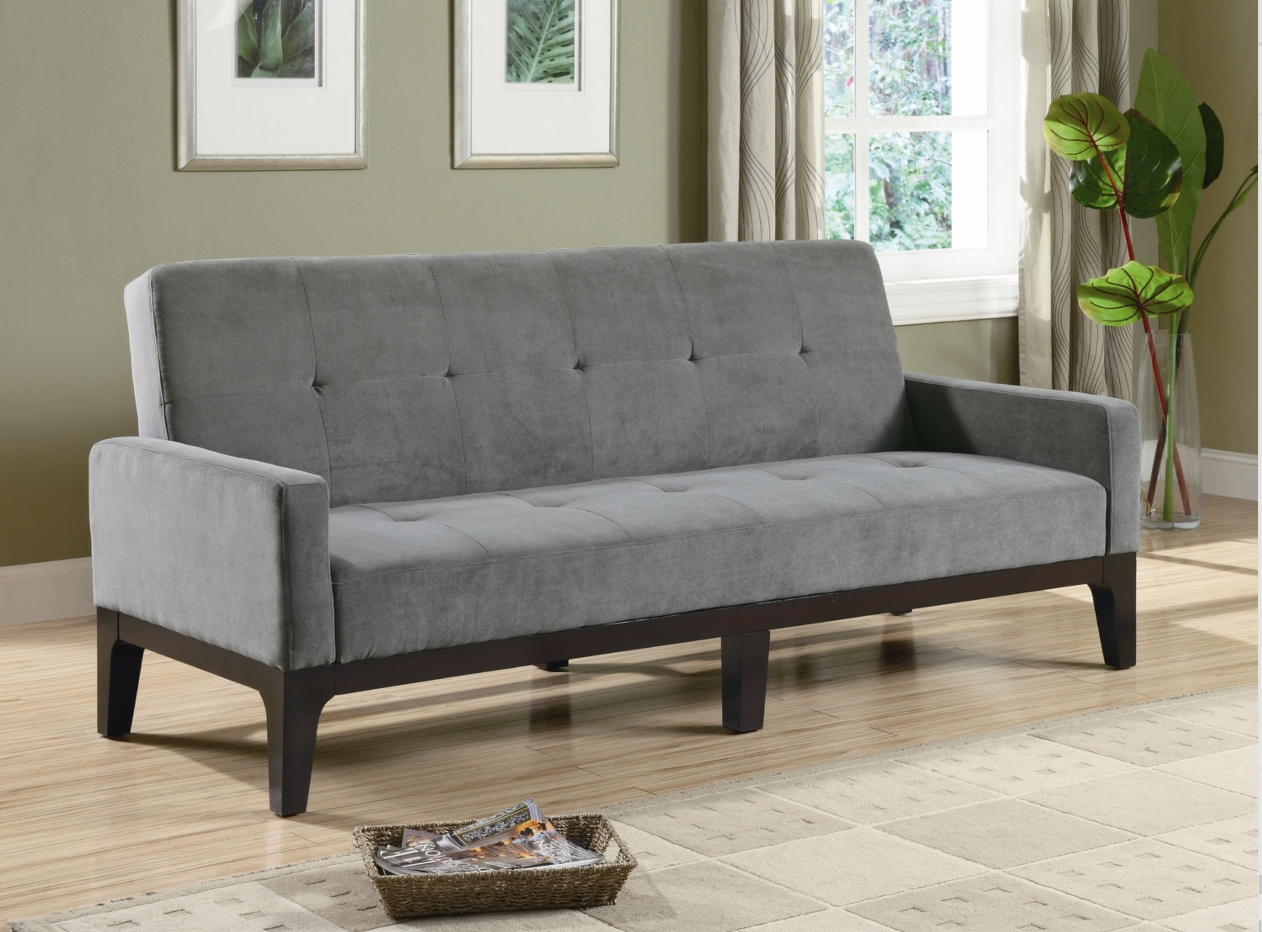 12 Affordable (And Chic) Sleeper Sofas For Small Living Spaces inside Mini Sofa Beds (Image 1 of 30)