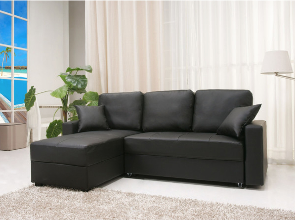 12 Affordable (And Chic) Sleeper Sofas For Small Living Spaces intended for Leather Storage Sofas (Image 1 of 30)
