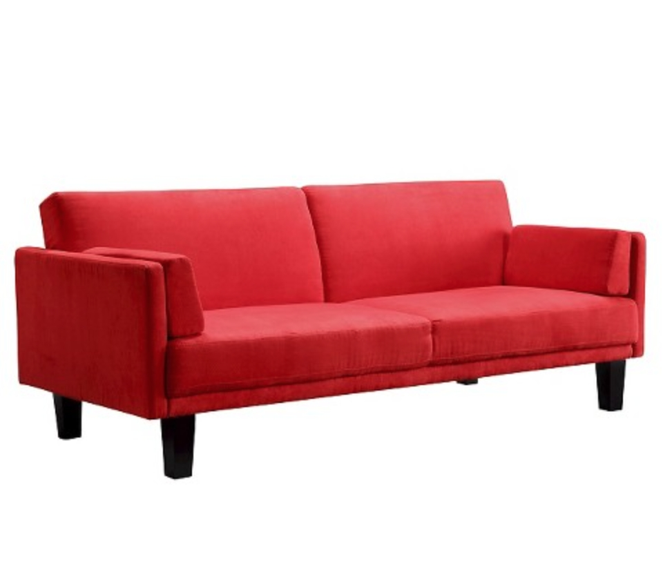 12 Affordable (And Chic) Sleeper Sofas For Small Living Spaces regarding Red Sectional Sleeper Sofas (Image 2 of 30)