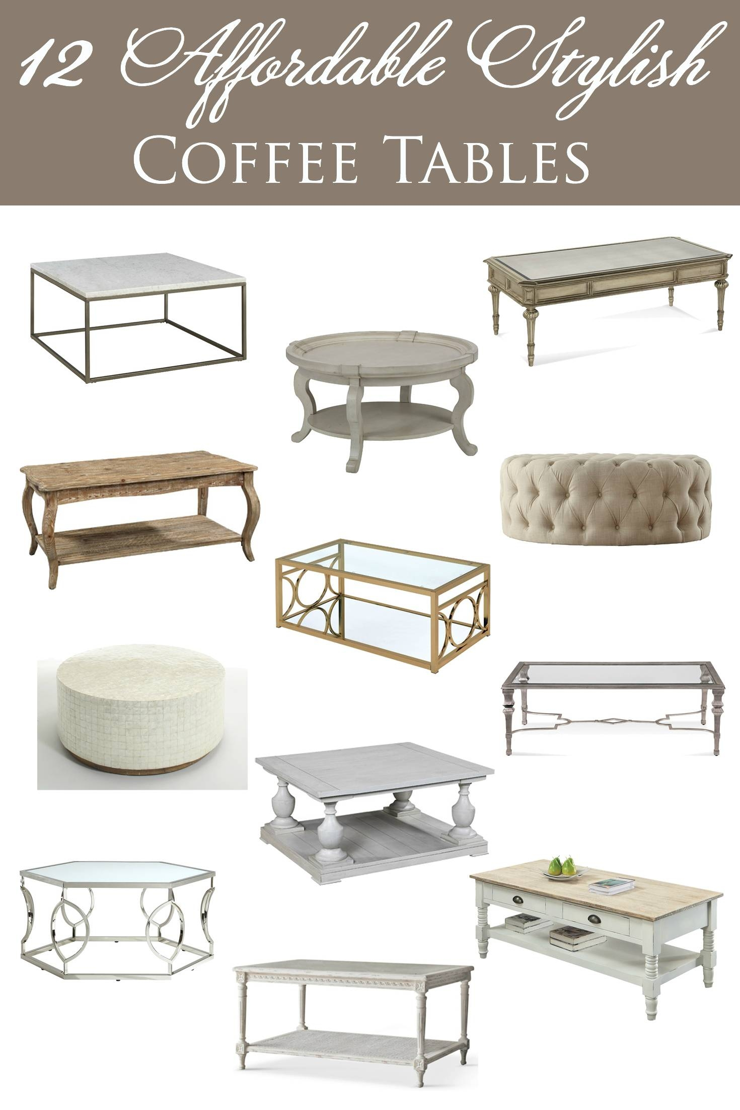 12 Affordable Stylish Coffee Tables intended for Stylish Coffee Tables (Image 1 of 30)