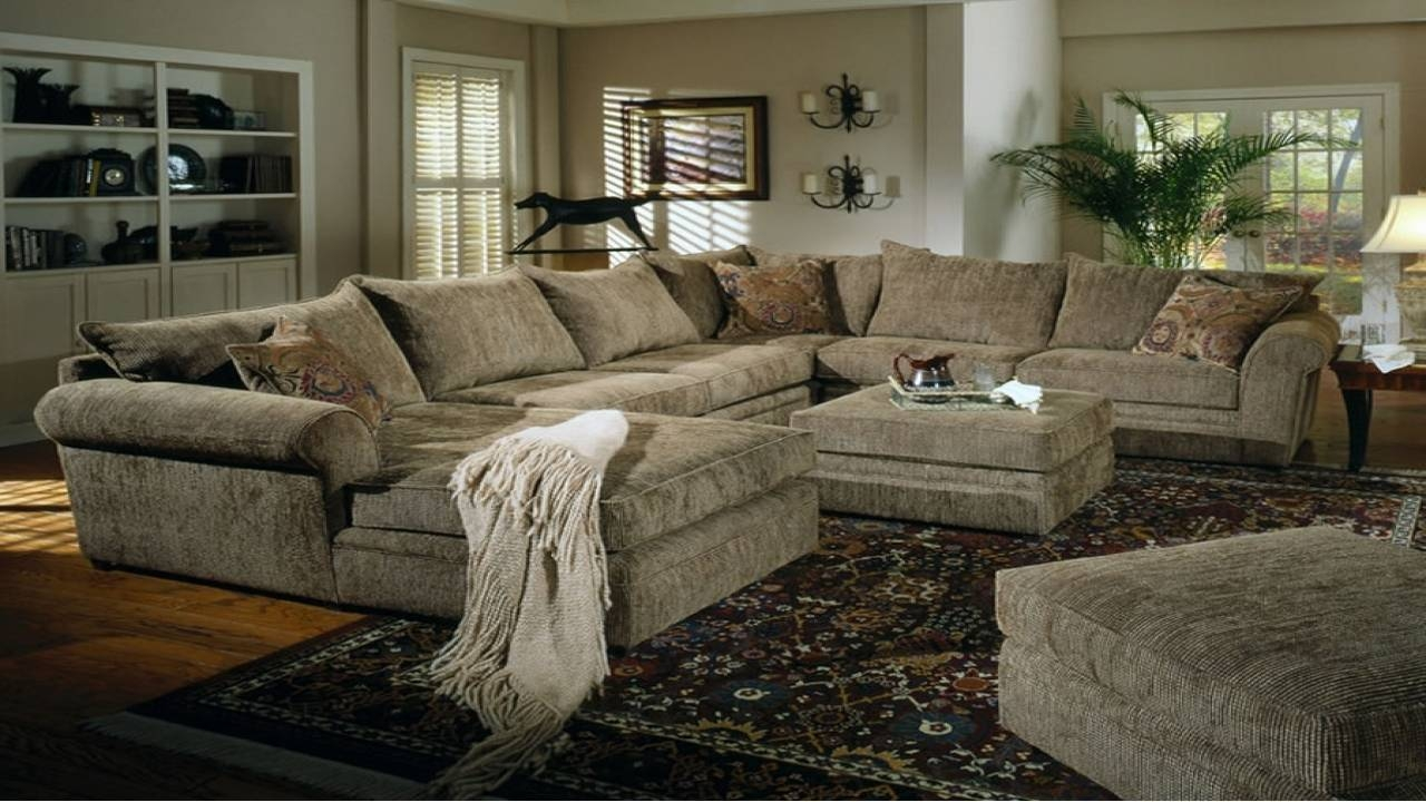 12 Collection Of Chenille Sectional Sofas for Chenille and Leather Sectional Sofa (Image 1 of 30)