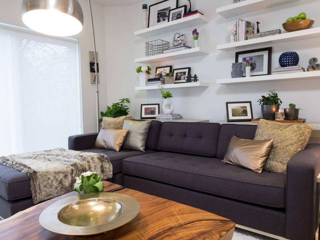 12 Living Room Ideas For A Grey Sectional | Hgtv's Decorating throughout Decorating With a Sectional Sofa (Image 3 of 30)