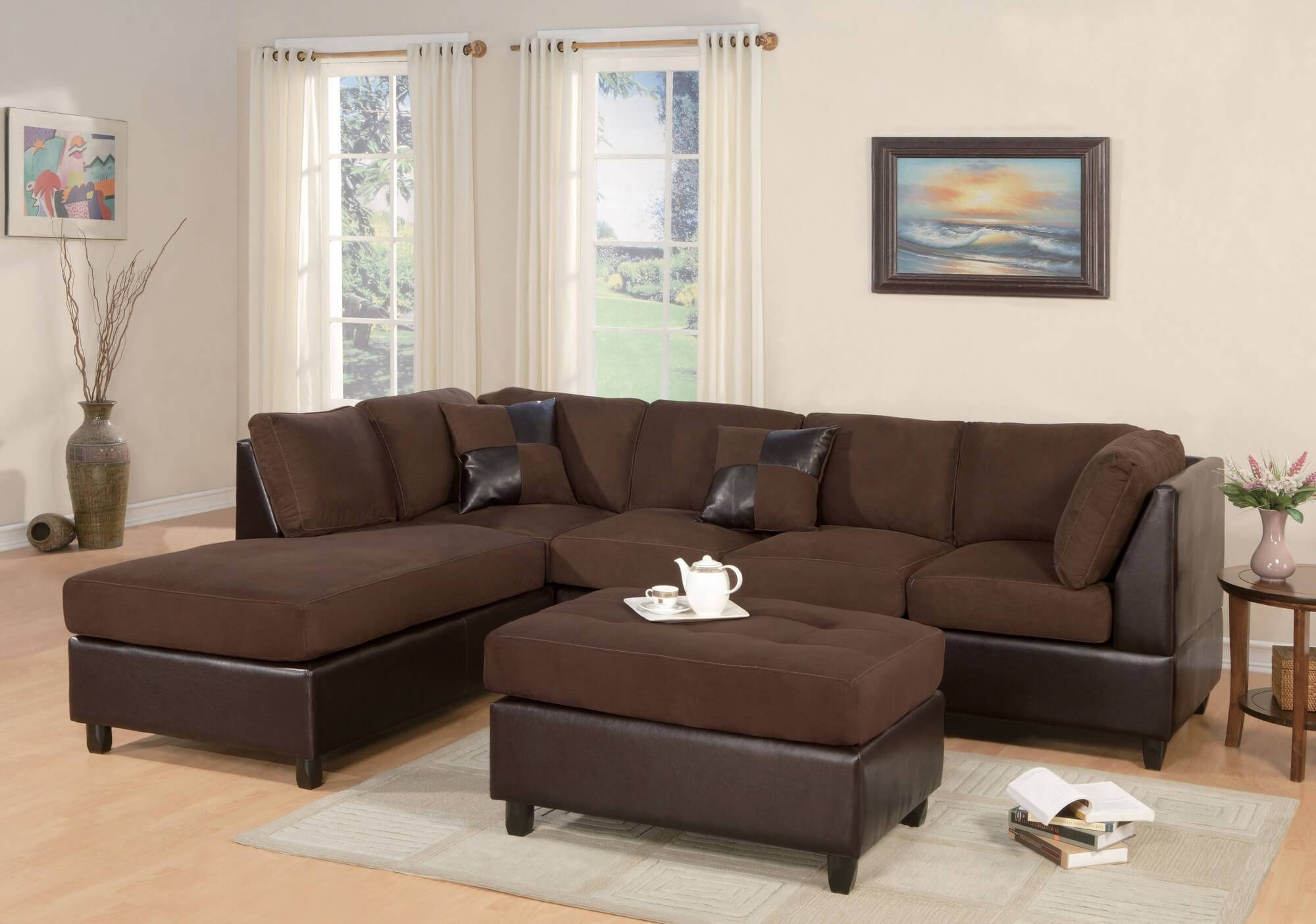 12 Photo Of Chocolate Brown Sectional Sofa with regard to Chocolate Brown Sectional Sofa (Image 2 of 30)