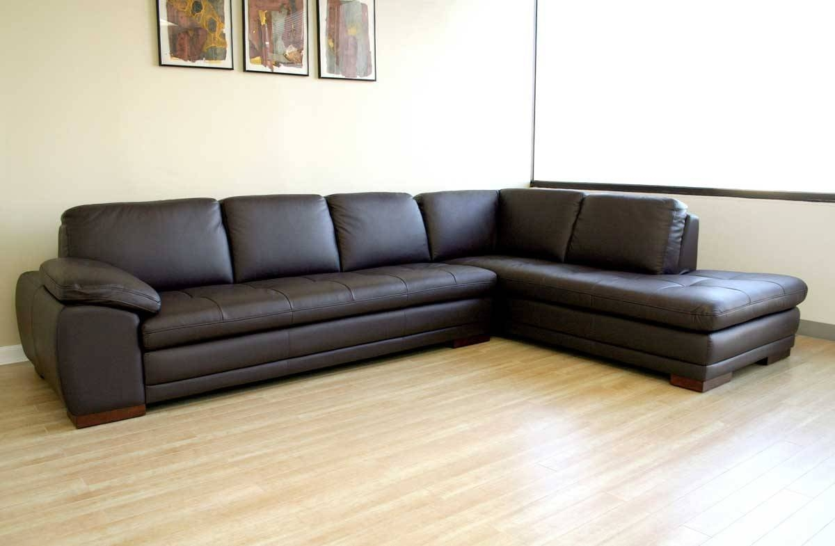 12 Photo Of Diana Dark Brown Leather Sectional Sofa Set for Diana Dark Brown Leather Sectional Sofa Set (Image 1 of 30)