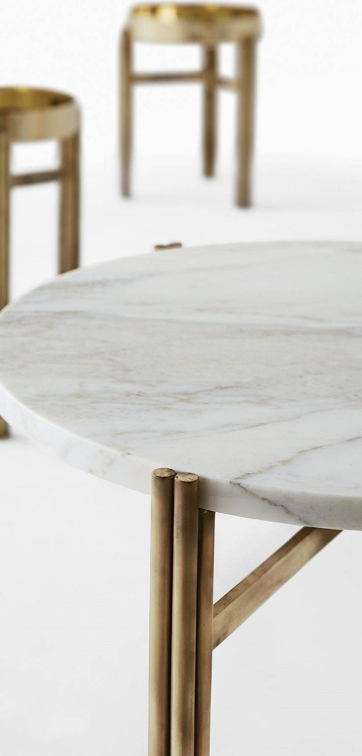 141 Best Contemporary Side Tables Images On Pinterest | Side in Marble Round Coffee Tables (Image 1 of 30)