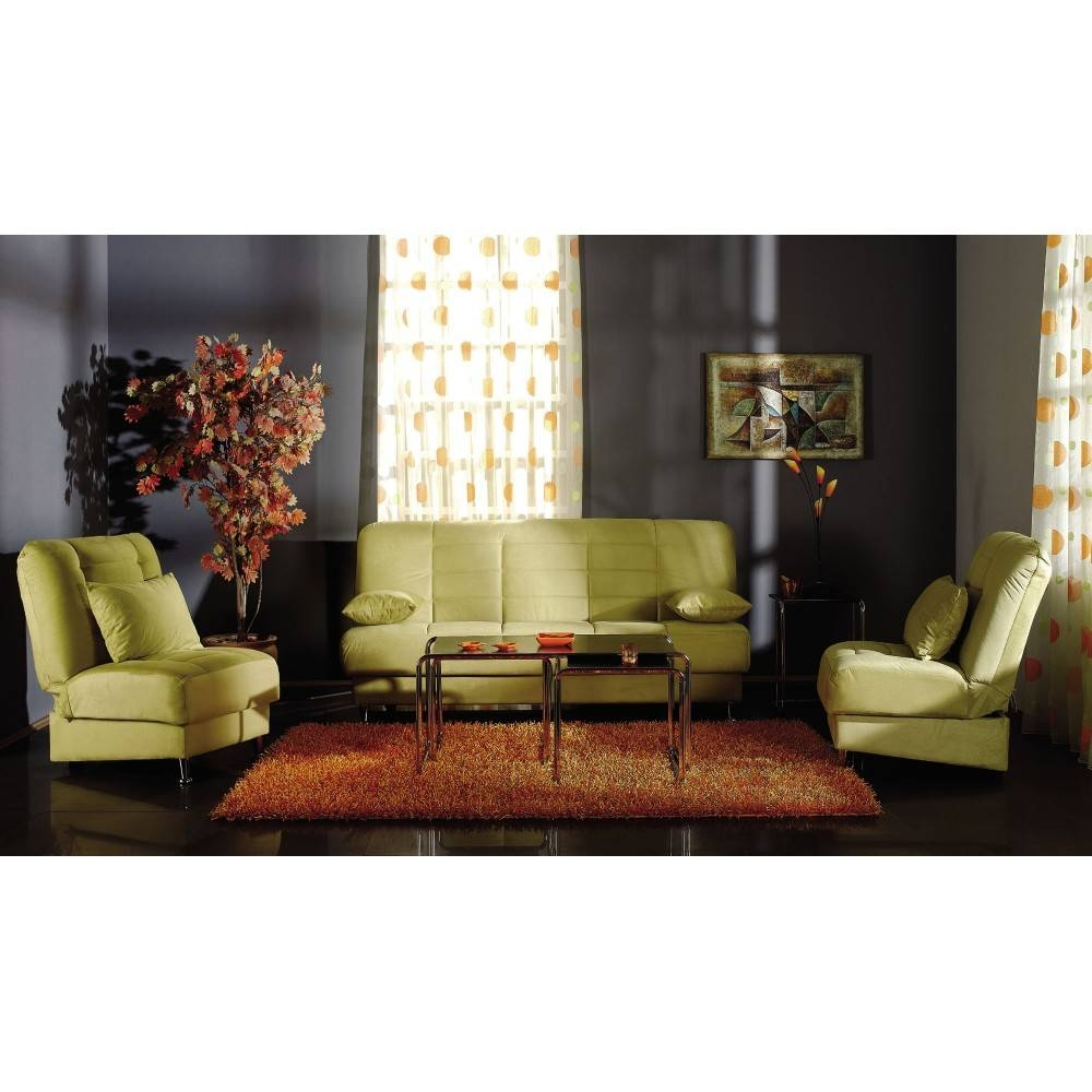 $1,445.50 Vegas Convertible Sofa Set | Rainbow Green (Sofa And 2 with regard to Green Sofa Chairs (Image 2 of 30)