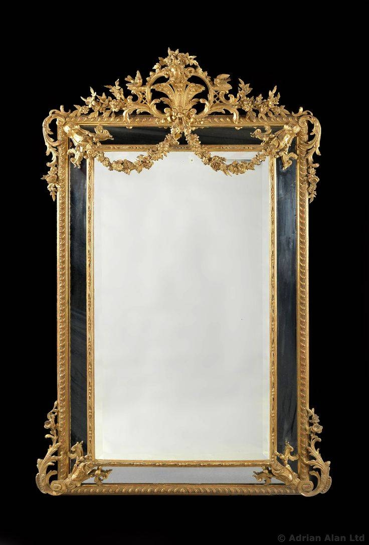 160 Best Mirror Images On Pinterest | Mirror Mirror, Antique inside Antique Gold Mirrors French (Image 6 of 25)