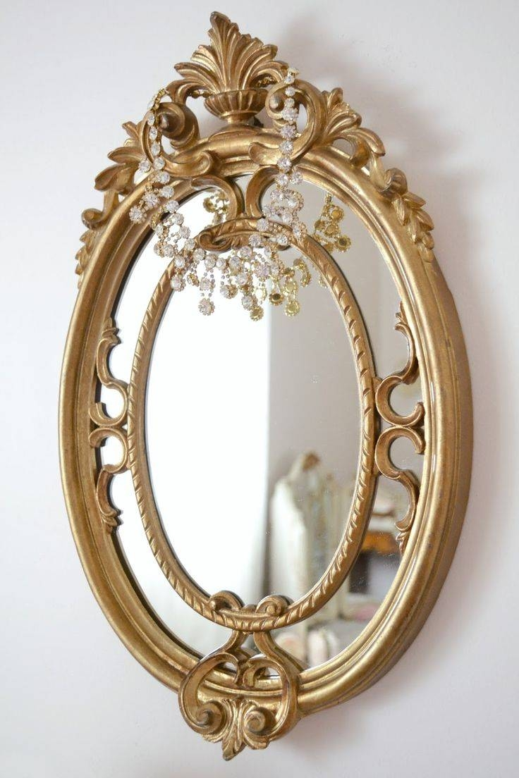 167 Best Mirror Mirror Images On Pinterest | Mirror Mirror, Mirror regarding Small Gold Mirrors (Image 1 of 25)