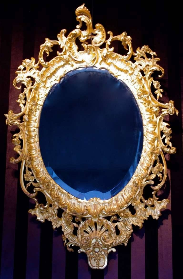 1880 Rococo Mirror In Stucco For Sale At 1Stdibs pertaining to Rococo Gold Mirrors (Image 9 of 25)