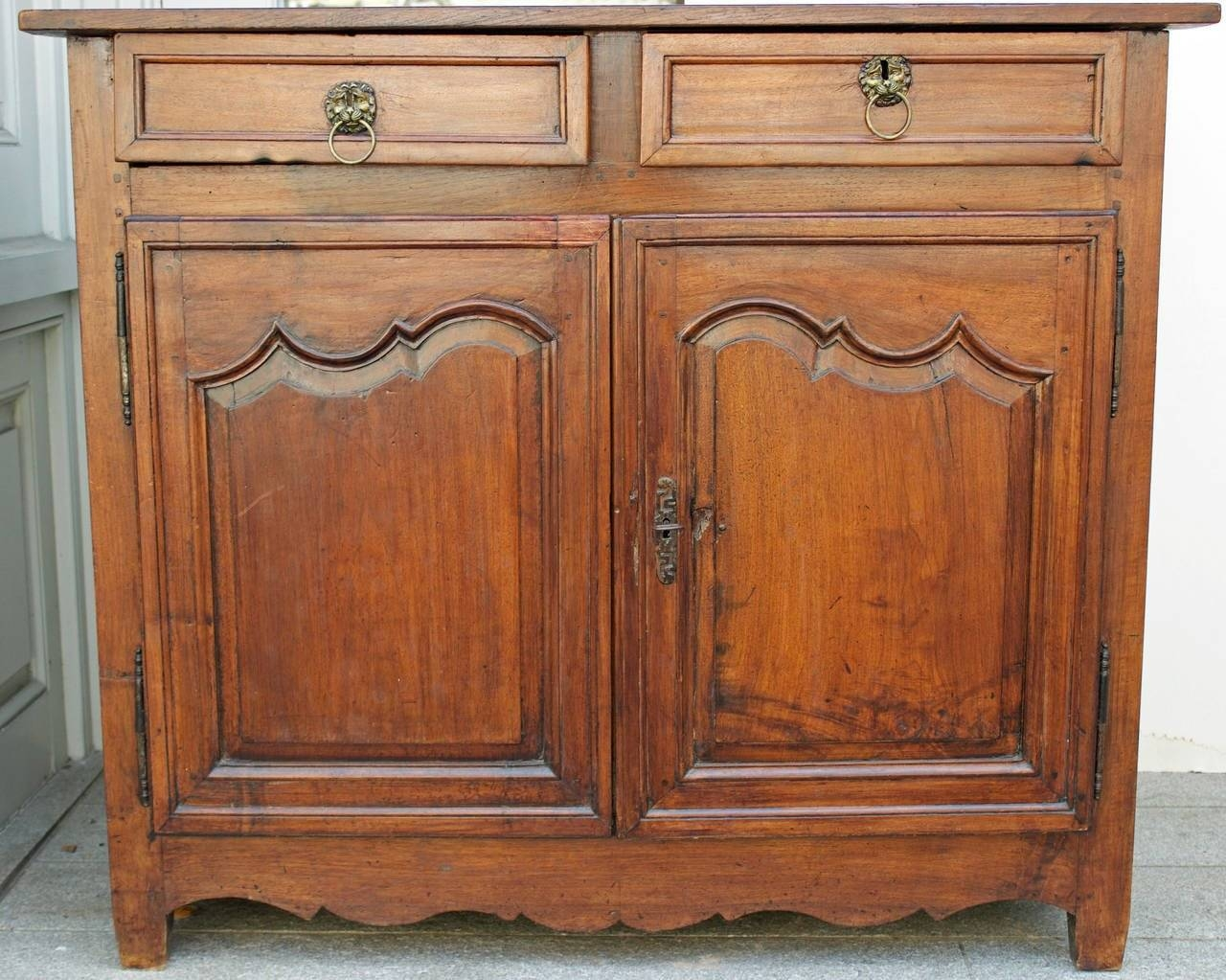 18Th Century French Country Louis Xiv Walnut Buffet Or Sideboard throughout French Country Sideboards (Image 1 of 30)