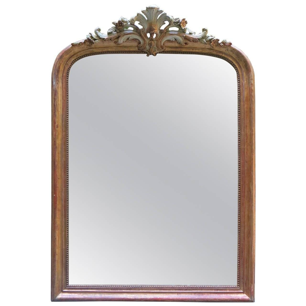 18Th Century Louis Xv Gilded Mirror With Cartouche At 1Stdibs For Antique Gilded Mirrors (View 15 of 25)