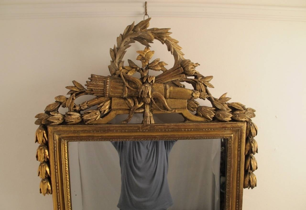 18Th Century Louis Xvi Gilt Framed Mirror For Sale At 1Stdibs inside Gilt Framed Mirrors (Image 3 of 25)