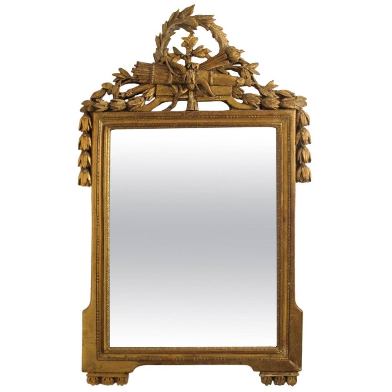 18Th Century Louis Xvi Gilt Framed Mirror For Sale At 1Stdibs pertaining to Gilt Framed Mirrors (Image 4 of 25)
