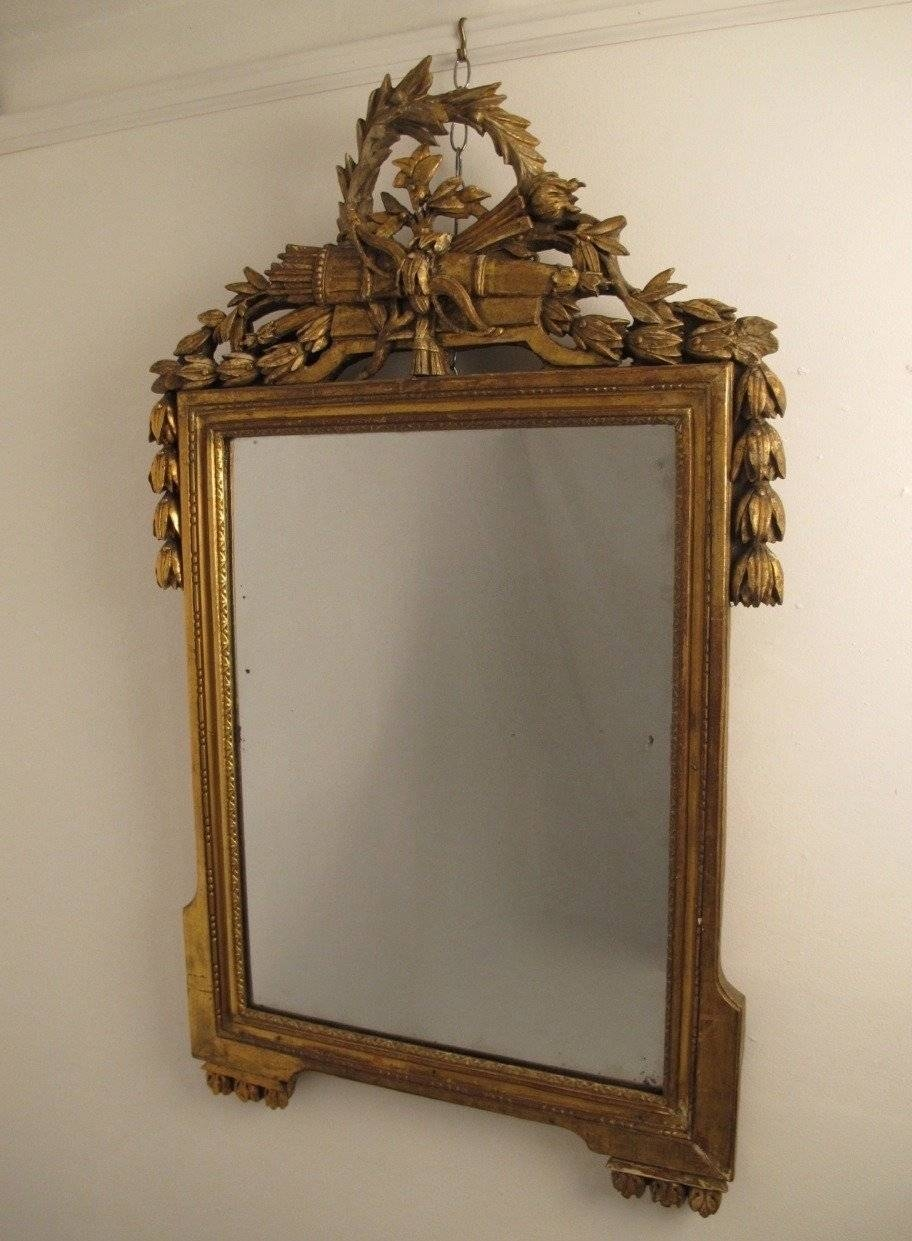 18Th Century Louis Xvi Gilt Framed Mirror For Sale At 1Stdibs regarding Gilt Framed Mirrors (Image 5 of 25)