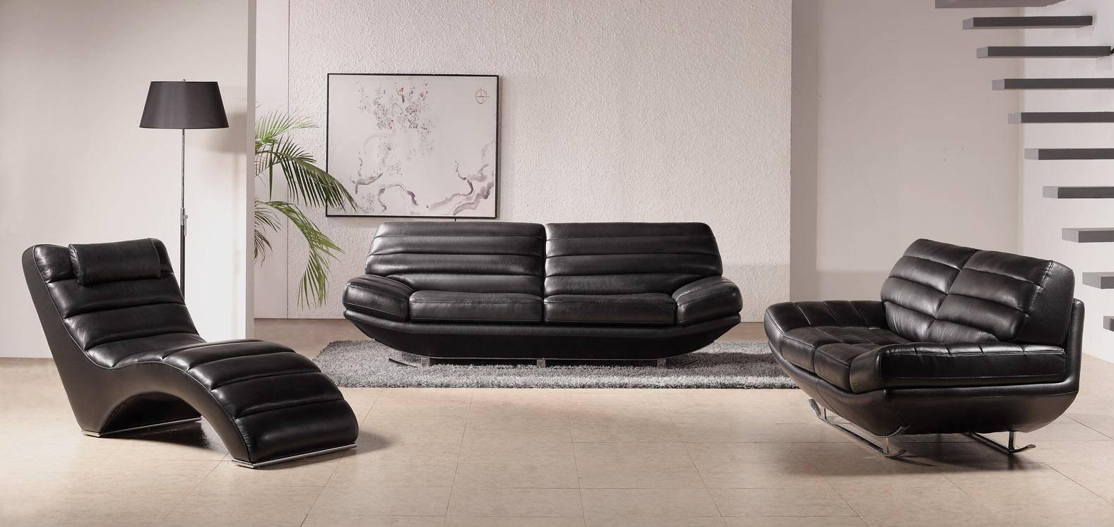 19 Contemporary Leather Sofa Set | Carehouse Intended For Contemporary Black Leather Sofas (View 1 of 30)