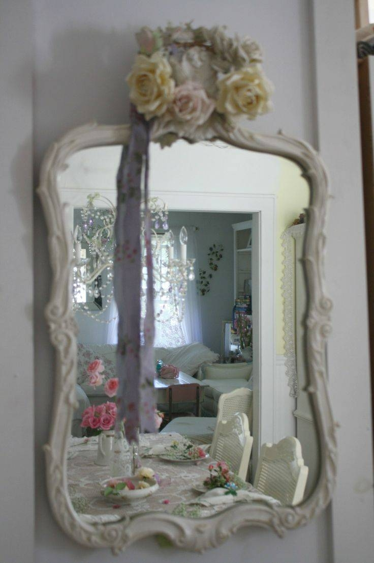 192 Best Shabby Chic ~ Signs & Mirrors & Frames Images On in Shabby Chic Mirrors (Image 1 of 25)