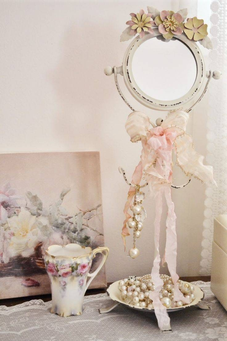 192 Best Shabby Chic ~ Signs & Mirrors & Frames Images On throughout Shabby Chic Cream Mirrors (Image 1 of 25)