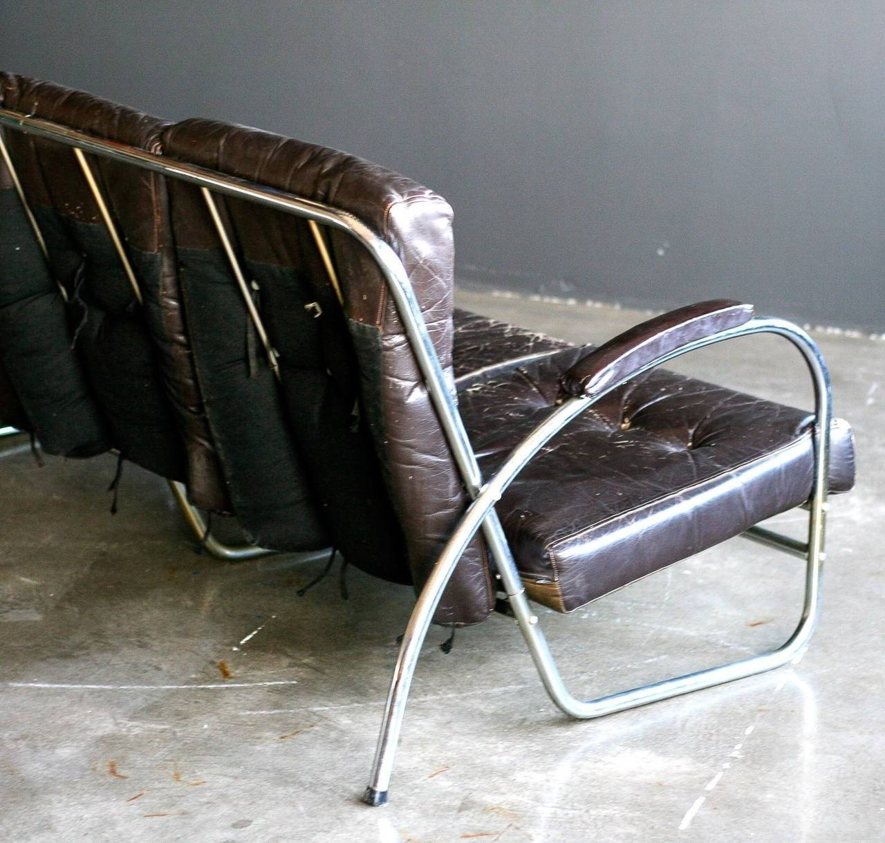1930S Chrome Tubular Sofaroyal Metal Co, Usa For Sale At 1Stdibs regarding 1930S Sofas (Image 1 of 30)