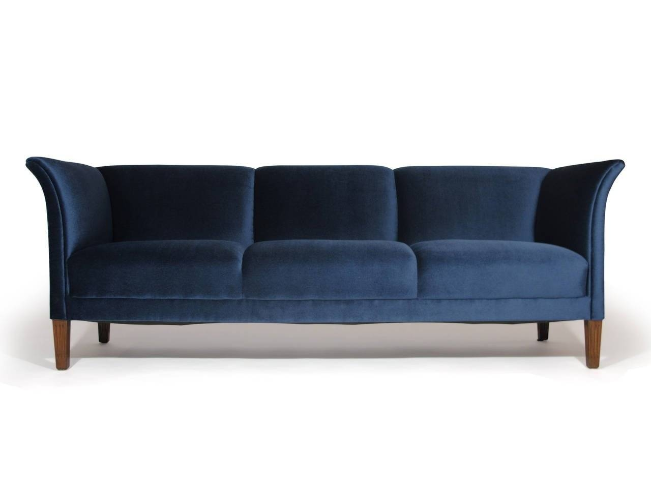 1930S Danish Navy Blue Mohair Sofa At 1Stdibs for 1930S Couch (Image 2 of 30)
