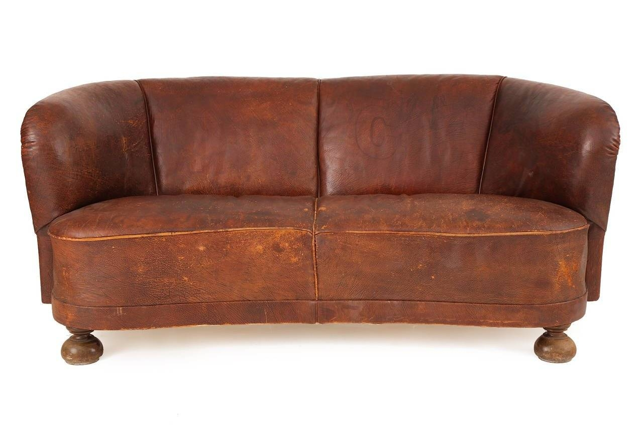 1930S Free-Form Danish Leather Sofa After Flemming Lassen For Sale inside 1930S Couch (Image 3 of 30)