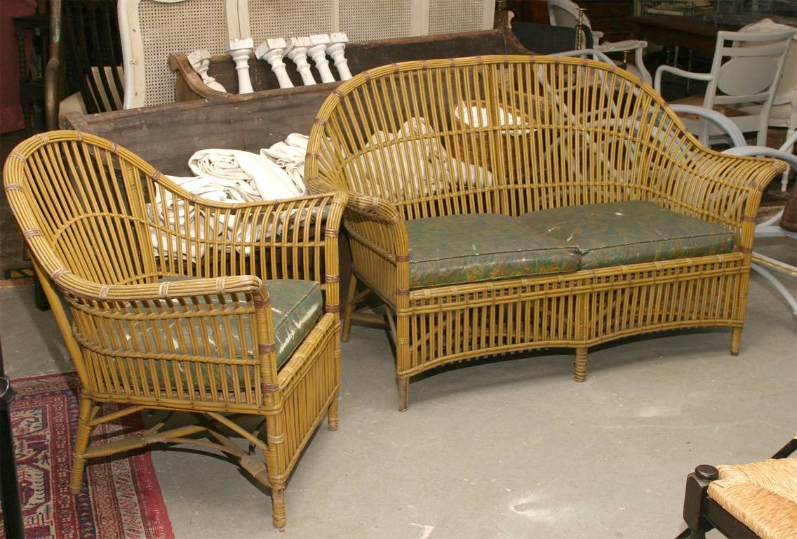 1930S Stick Wicker Sofa & Chair, Set | Omero Home within 1930S Sofas (Image 7 of 30)