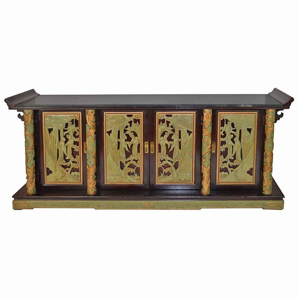 1950S Chinoiserie Sideboard At 1Stdibs intended for Chinoiserie Sideboards (Image 1 of 30)