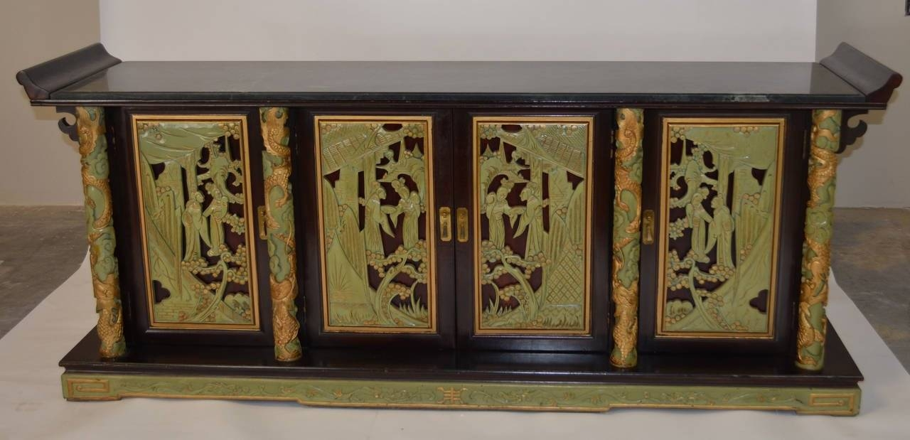 1950S Chinoiserie Sideboard At 1Stdibs within Chinoiserie Sideboards (Image 2 of 30)