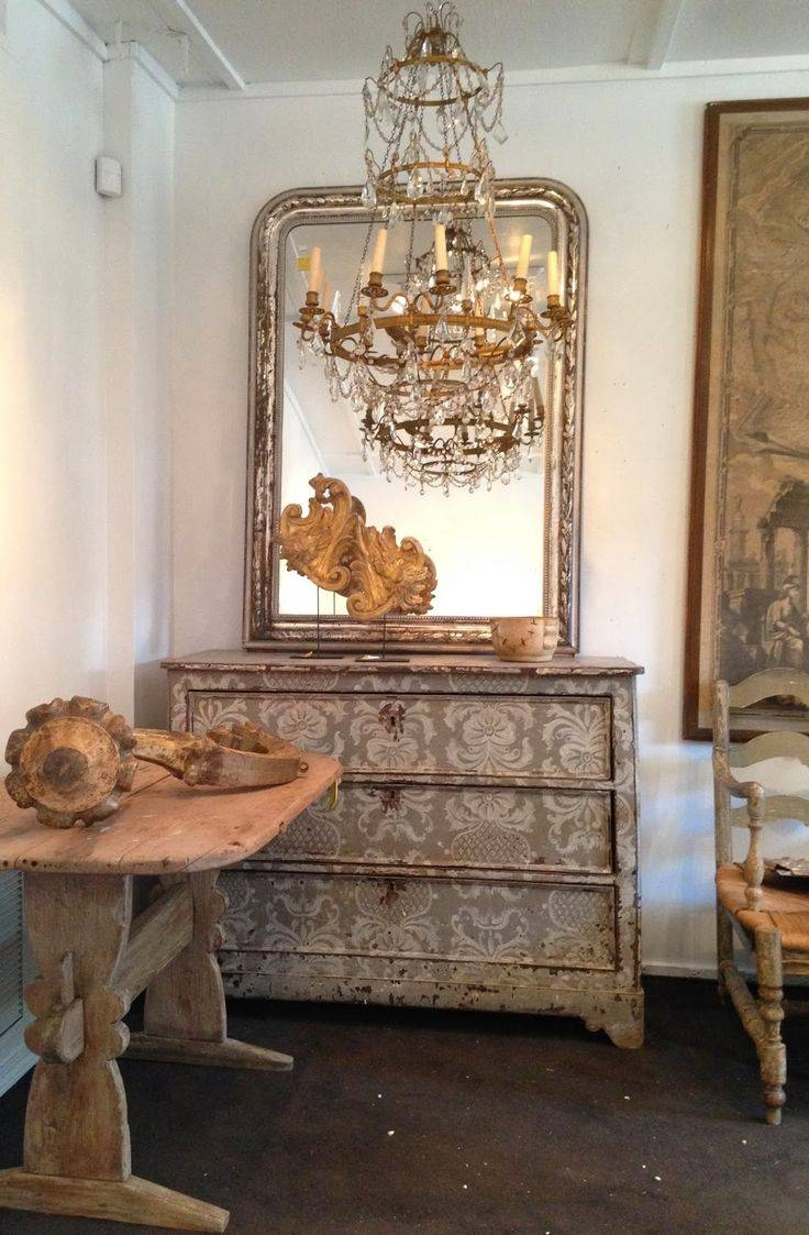 196 Best Mirrors Images On Pinterest | Mirrors, Mirror Mirror And pertaining to Old French Mirrors (Image 1 of 25)