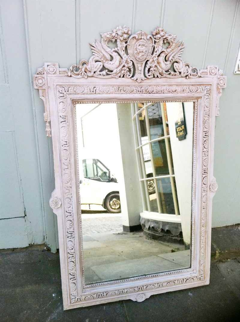 19Th Century French Painted Dragon Crest Wall Mirror (View 3 of 25)