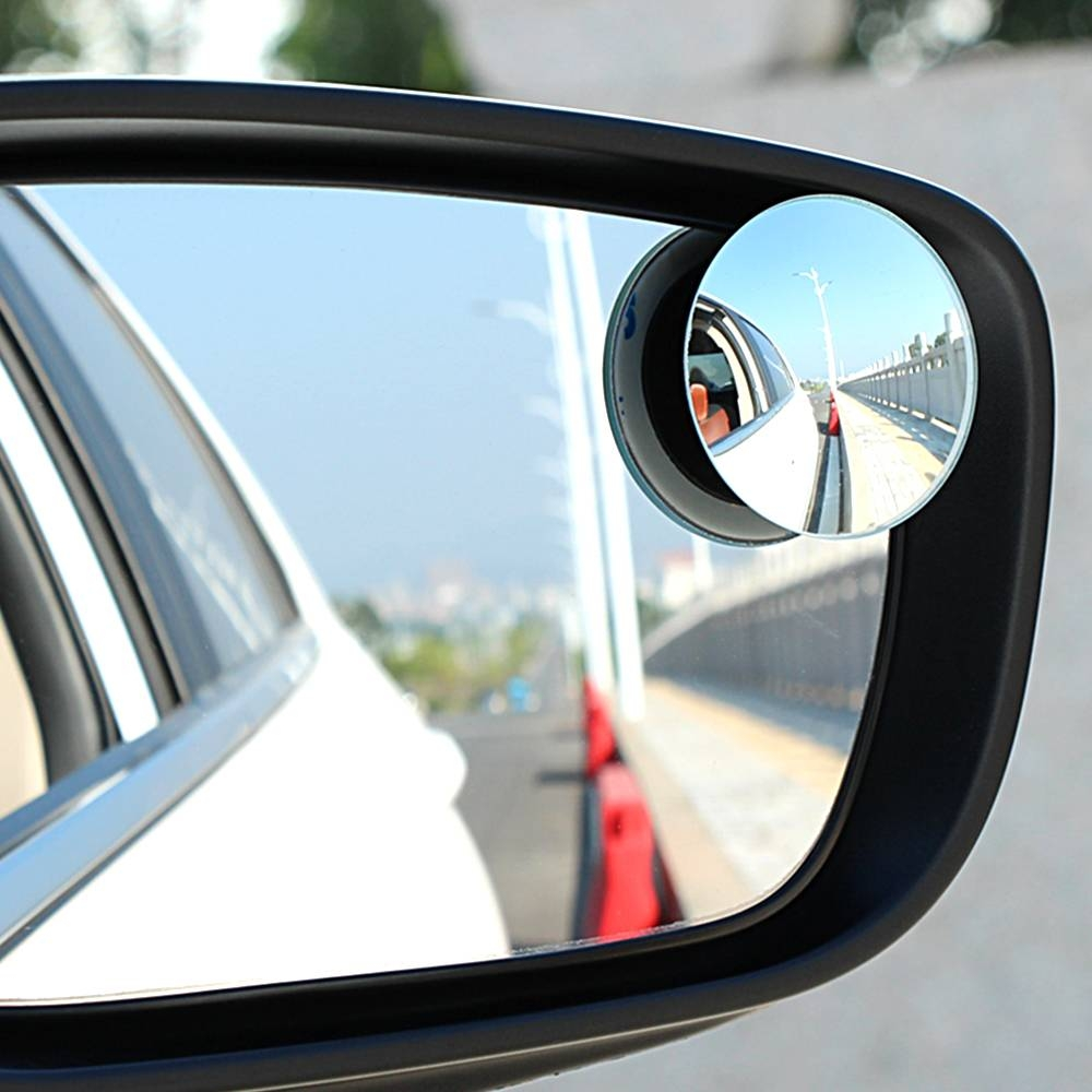 1Pair Wide Angle Side Round Convex Mirror Rearview Mirror Car pertaining to Small Convex Mirrors (Image 1 of 25)
