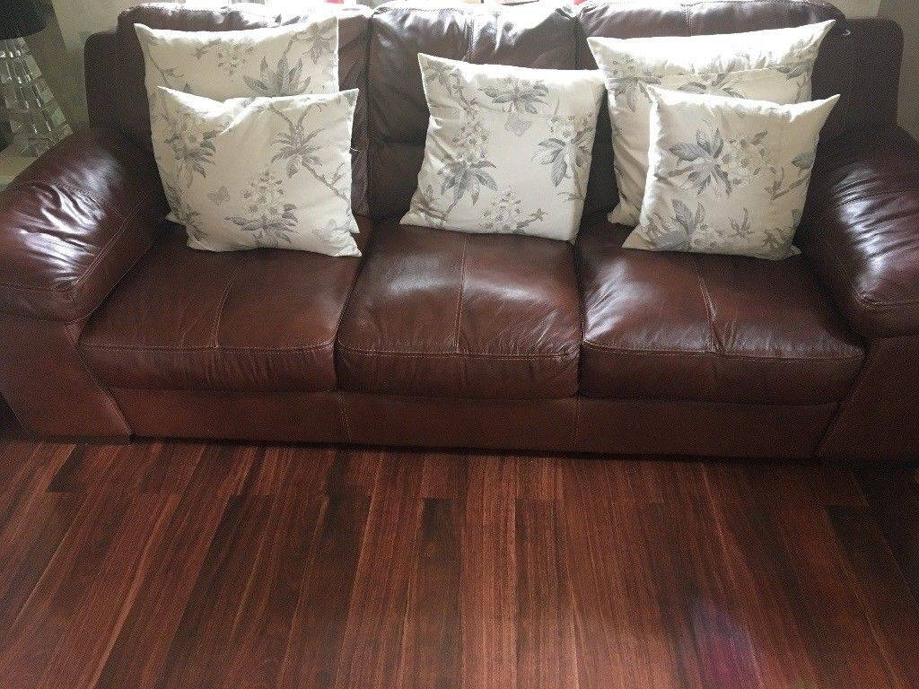 2- 3 Seater Leather Sofas Very Large Excellent Condition | In for Very Large Sofas (Image 1 of 30)