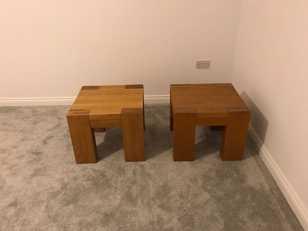 2 Chunky Oak Coffee Tables (55Cm Wide, 55Cm Deep, 45Cm Tall) £40 pertaining to Chunky Oak Coffee Tables (Image 2 of 30)