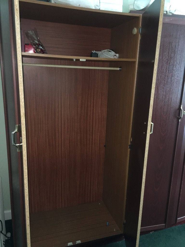 2 Dark Wood Wardrobes | In Knightswood, Glasgow | Gumtree within Dark Wood Wardrobes (Image 2 of 30)