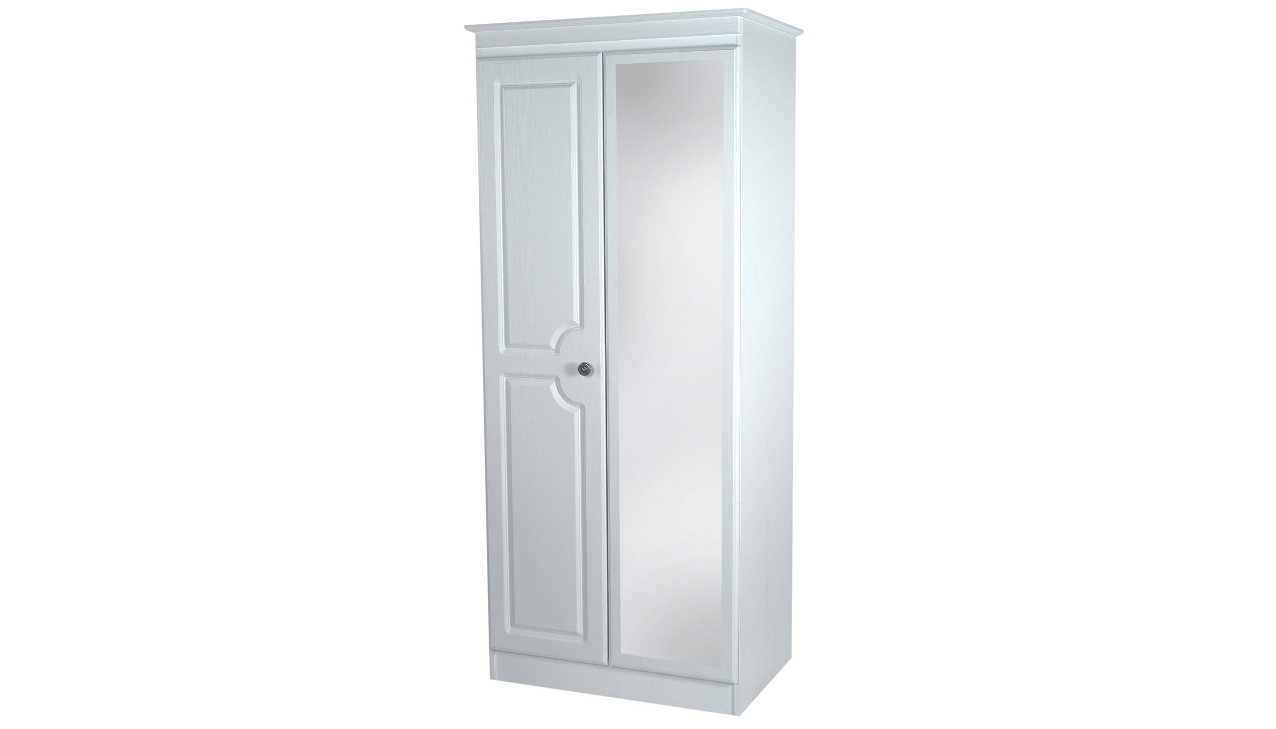 2 Door Mirrored Wardrobe From The Pembroke Range | Ahf Furniture Within Double Mirrored Wardrobes (View 8 of 15)