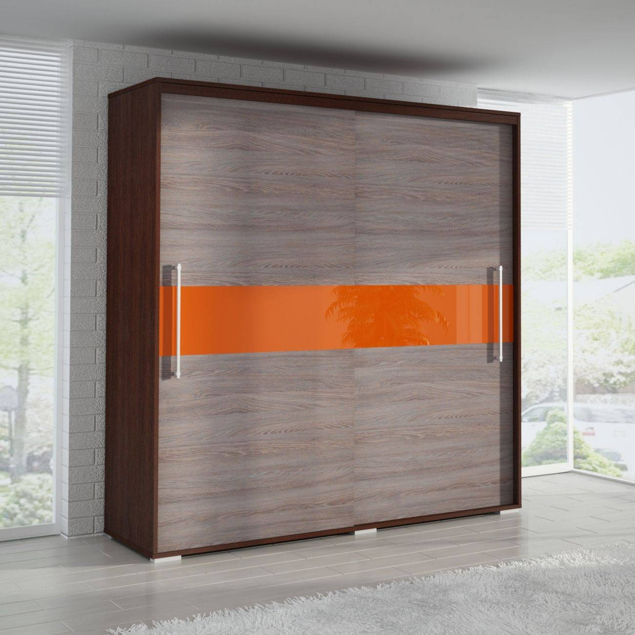 2 Door Sliding Wardrobe Orl200-2Dw regarding 2 Sliding Door Wardrobes (Image 1 of 15)