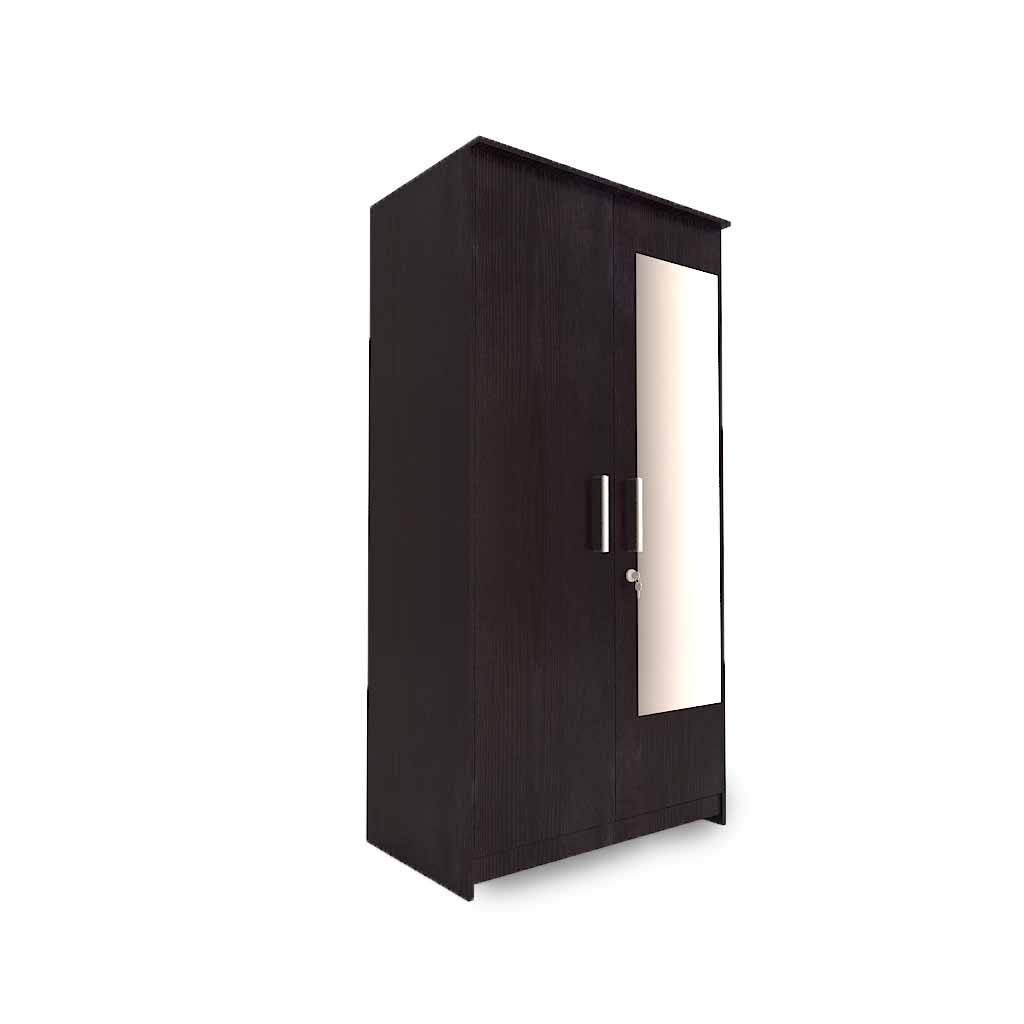2 Door Wardrobes – Woodys Furniture For Dark Wood Wardrobe With Mirror (View 1 of 30)